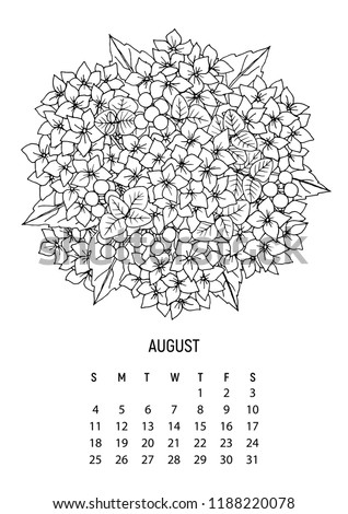 flower bouquet coloring calendar page 8 from 12 august 2019 flower calendar for
