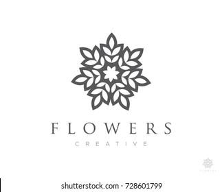 flower boutique logo icon vector