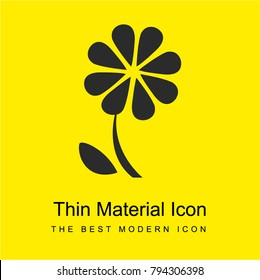 Flower bright yellow material minimal icon or logo design
