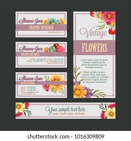 flower bussines card tempate
