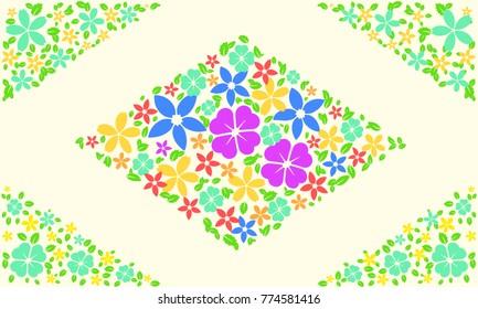 flower card design background colorful flat design