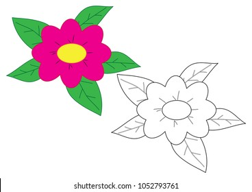 flower cartoon coloring page game 260nw