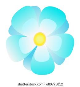 Flower cartoon, flower on white background