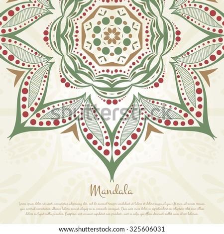 flower circular background a stylized drawing mandala vintage decorative elements islam