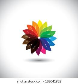 Color Wheel Flower Images Stock Photos Vectors Shutterstock