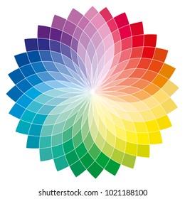 Flower colorful toroidal