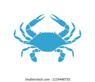 Flower Crab. Blue Swimmer Crab. EPS 10. Vector illustration