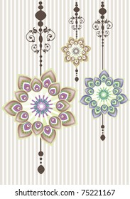 Flower decoration set