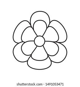 Flower design, floral nature plant ornament garden decoration and botany theme Vector illustration