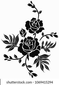 Flower design hand draw for design