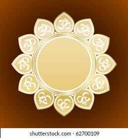 flower design with om symbol