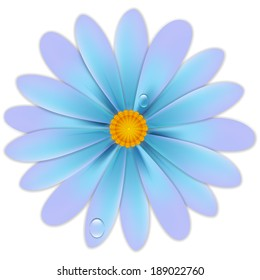 flower with drops. Vector illustrations