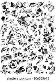 Flower elements for design
