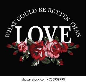 flower embroidery graphic for t shirt