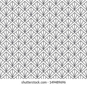Flower or feather, asian seamless pattern, abstract ornament, japan / china background. Vector illustration