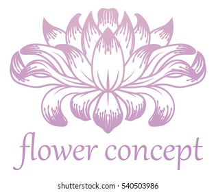 A flower floral abstract design concept icon