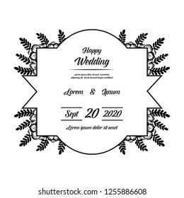flower floral background for wedding vector illustration