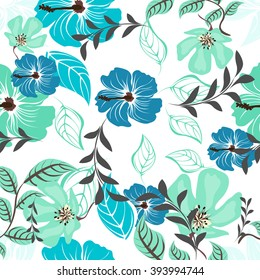 Flower Floral Seamples Pattern