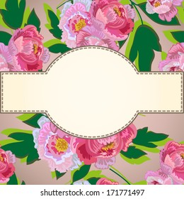 Flower With Frame Background