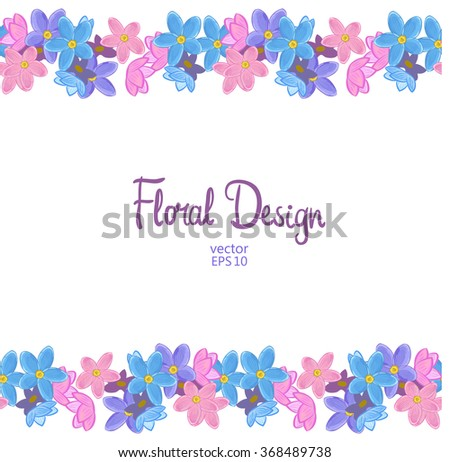 Flower Frame Border Vector On White Stock Vector Royalty Free