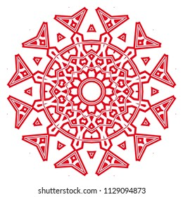 Flower GEOMETRIC mandala. Printable package decorative elements. Coloring page template. It is fantastic vector illustrations