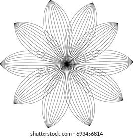 Flower Geometric Pattern