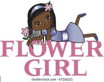 Flower Girl Dark Skin Cornrow Hair
