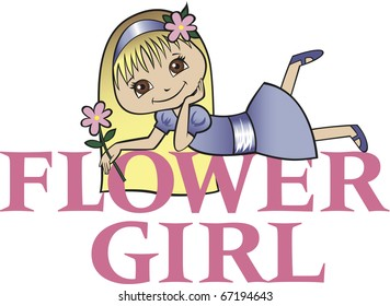 Flower Girl with Long Blonde Hair