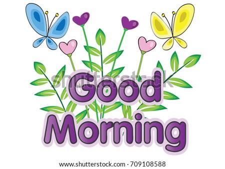 Flower good morning greeting card stock vector royalty free flower with good morning greeting card m4hsunfo
