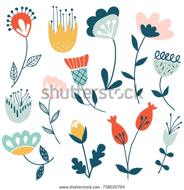 Flower Graphic Design Vector Set Floral Stock Vector Royalty Free