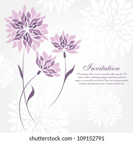 Flower greeting card. Wedding invitation
