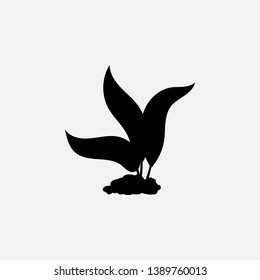 flower grows icon sign signifier vector