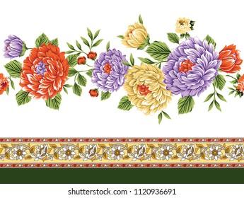 flower horizontal border