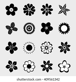 Flower icon collection