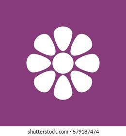 flower Icon, flat design style