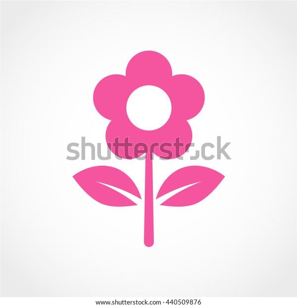 flower Icon Isolated on White Background