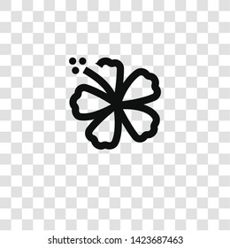 flower icon from miscellaneous collection for mobile concept and web apps icon. Transparent outline, thin line flower icon for website design and mobile, app development