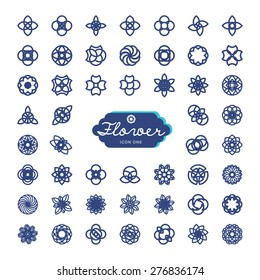FLOWER ICON ONE Flora icons useful for design element, artistic aesthetic, textile design, digital work and icon for website and applications. many versions in my portfolio. EPS files available.