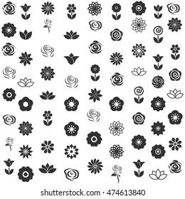 flower icon - flower pattern seamless vector illustrator
