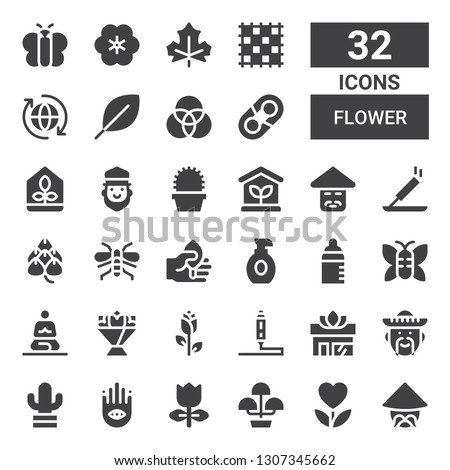 flower icon set Collection