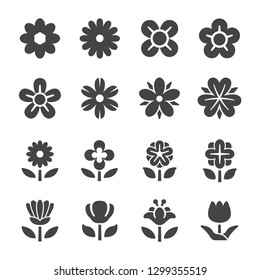 flower icon set,vector and illustration