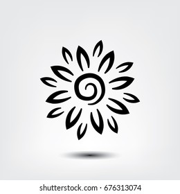 flower icon, flower vector icon, Pictograph of flower.
