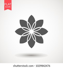 Flower icon vector, in trendy flat style isolated on white background. Flower vector illustration