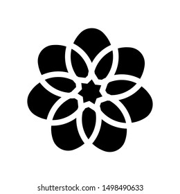 Flower icon., Flower icon vector, in trendy flat style isolated on white background. Flower icon image, Flower icon illustration. coloring book