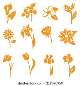 Flower icons - gradient free and easy to change color.