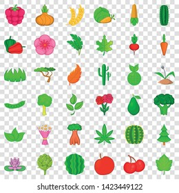 Flower icons set. Cartoon style of 36 flower vector icons for web for any design