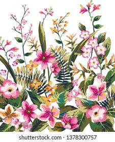 Flower illustration design