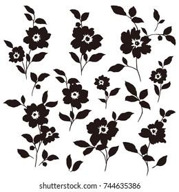 Flower illustration pattern