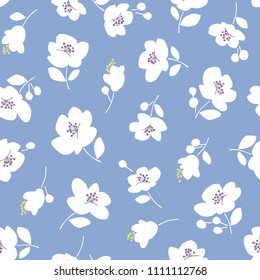 Flower illustration pattern, I designed a flower, This painting continues repeatedly seamlessly,