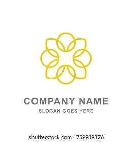 Flower Islamic Ornament Boutique Yoga Spa Logo Vector Icon